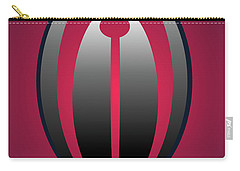 Carry-all Pouch featuring the digital art 1328 Red by John Krakora