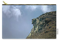 Carry-all Pouch featuring the photograph 135701 Old Man Of The Mountain Nh by Ed Cooper Photography