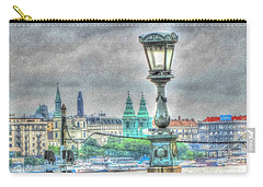 Carry-all Pouch featuring the pyrography Budapesht by Yury Bashkin