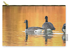 Carry-all Pouch featuring the photograph Canada Geese by Tam Ryan