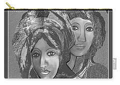 Carry-all Pouch featuring the digital art 1667 - The Sisters by Irmgard Schoendorf Welch