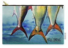 Carry-all Pouch featuring the painting Amber Jack by Kris Parins