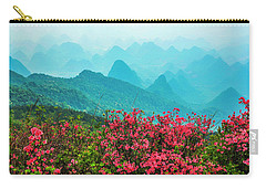 Blossoming Azalea And Mountain Scenery Carry-all Pouch