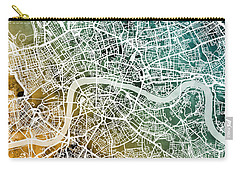 London England Street Map Carry-all Pouch