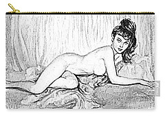 Carry-all Pouch featuring the digital art Pinup by ReInVintaged