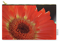 Carry-all Pouch featuring the photograph Red Gerber by Elvira Ladocki
