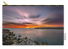 Sunst Over The Ocean Carry-all Pouch