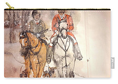 Carry-all Pouch featuring the painting Talley Ho  Album by Debbi Saccomanno Chan