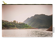 The Mountains And Lake Scenery In Sunset Carry-all Pouch
