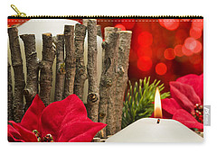 Carry-all Pouch featuring the photograph Autumn Candles by Ulrich Schade