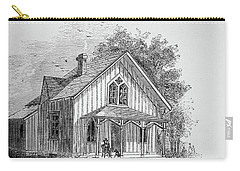 19 Century Farmhouse With Dog On Front Poarch Carry-all Pouch