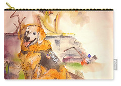 Carry-all Pouch featuring the painting Dogs  Dogs  Dogs  Album  by Debbi Saccomanno Chan