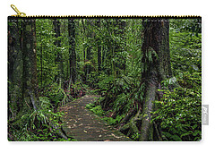 Carry-all Pouch featuring the photograph Forest Boardwalk by Les Cunliffe