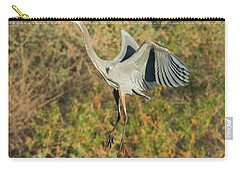 Carry-all Pouch featuring the photograph Great Blue Heron by Tam Ryan