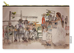 Carry-all Pouch featuring the painting The Wedding Album  by Debbi Saccomanno Chan