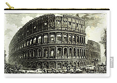 Carry-all Pouch featuring the drawing 1810 Italian Etching Of The Ruins Of The Roman Colosseum Francesco Piranesi by Peter Gumaer Ogden