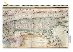 1852 New York City Map Carry-all Pouch