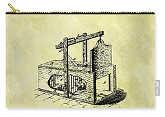 Carry-all Pouch featuring the mixed media 1870 Mousetrap Patent by Dan Sproul