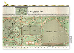 1870 Vaux And Olmstead Map Of Central Park New York City Carry-all Pouch