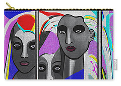 Carry-all Pouch featuring the digital art 1875 - To Walk Tall by Irmgard Schoendorf Welch