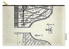 1880 Steinway Piano Forte Patent Art Sheet 1  Carry-all Pouch