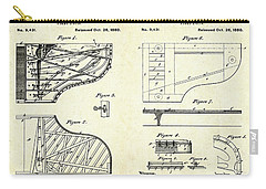 1880 Steinway Piano Forte Patent Art Sheets V2 Carry-all Pouch