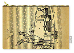 1884 Submarine Ship Patent Carry-all Pouch by Dan Sproul