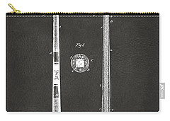 1885 Baseball Bat Patent Artwork - Gray Carry-all Pouch by Nikki Marie Smith
