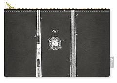 1885 Baseball Bat Patent Artwork - Gray Carry-all Pouch