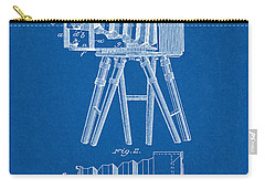 1885 Camera Us Patent Invention Drawing - Blueprint Carry-all Pouch