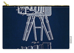 1885 Camera Us Patent Invention Drawing - Dark Blue Carry-all Pouch