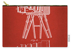 1885 Camera Us Patent Invention Drawing - Red Carry-all Pouch
