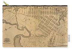 Carry-all Pouch featuring the photograph 1885 Inwood Map  by Cole Thompson