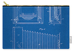 Carry-all Pouch featuring the digital art 1891 Camera Us Patent Invention Drawing - Blueprint by Todd Aaron