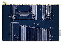 1891 Camera Us Patent Invention Drawing - Dark Blue Carry-all Pouch