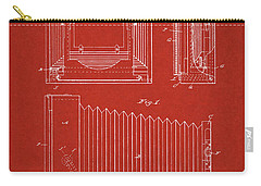 Carry-all Pouch featuring the digital art 1891 Camera Us Patent Invention Drawing - Red by Todd Aaron