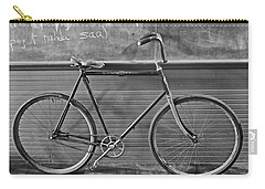 Carry-all Pouch featuring the photograph 1895 Bicycle by Joan Reese