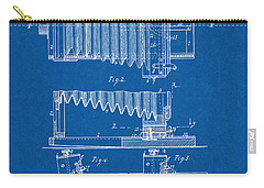 Carry-all Pouch featuring the digital art 1897 Camera Us Patent Invention Drawing - Blueprint by Todd Aaron