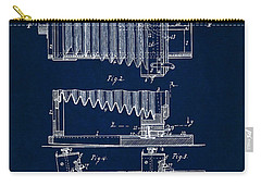 Carry-all Pouch featuring the digital art 1897 Camera Us Patent Invention Drawing - Dark Blue by Todd Aaron