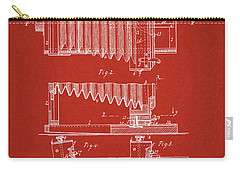 1897 Camera Us Patent Invention Drawing - Red Carry-all Pouch