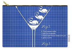 1897 Dirty Martini Blueprint Carry-all Pouch by Jon Neidert