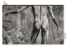 18th Century Anatomical Engraving Carry-all Pouch