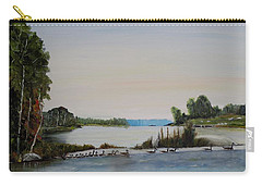 Carry-all Pouch featuring the painting 19 Geese by Marilyn  McNish