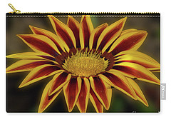 Carry-all Pouch featuring the photograph Nice Gazania by Elvira Ladocki
