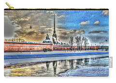 Carry-all Pouch featuring the pyrography Peterburg by Yury Bashkin