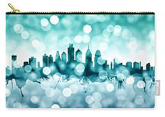 Philadelphia Pennsylvania Skyline Carry-all Pouch by Michael Tompsett