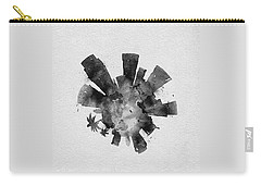Black Skyround Art Of Los Angeles, United States Carry-all Pouch
