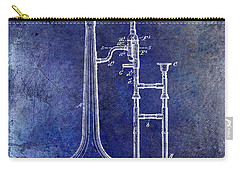 1902 Trombone Patent Blue Carry-all Pouch