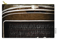 Carry-all Pouch featuring the photograph 1907 Cadillac Model M Touring Grille Emblem -1106ac by Jill Reger
