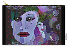 1909 Faces Fractal - 2017 Carry-all Pouch by Irmgard Schoendorf Welch